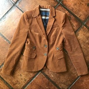 Zara Basic Brown Camel Jacket with Elbow Patches